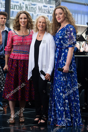 """Chilina Kennedy, left, Carole King and Abby Mueller perform on NBC's """"Today"""" show, in New York"""