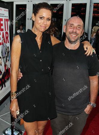"""Minnie Driver, left, and writer and director Dan Mazer pose together on the red carpet at a special screening for """"I Give It A Year"""" at the on in Los Angeles"""