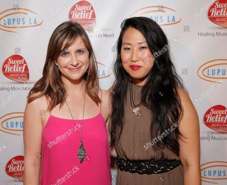 Kellie Martin and Susie Suh are seen at A Night for Jolie Levine Sponsored by Lupus LA & Sweet Relief Musicians Fund, at Henson Studios on Friday, May, 31, 2013 in Los Angeles