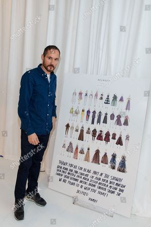 Designer Josep Font poses at the Del Pozo NYFW Fall/Winter 2016 fashion show at Pier 59 Studios, in New York