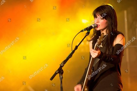 Emma Anzai of Sick Puppies performing as part of The Hottest Chicks in Hard Rock Tour at The Masquerade, in Atlanta