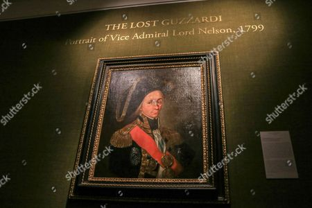 Leonardo Guzzardi portrait of Lord Nelson on display at the Philip Mould gallery