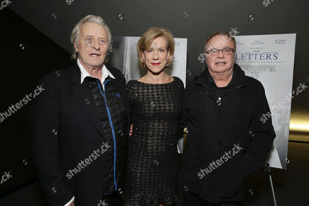 Rutger Hauer, Juliet Stevenson and Writer/Director William Reaid seen at the Los Angeles Special Screening of 'The Letters' Hosted by TakePart.org, in Los Angeles, CA