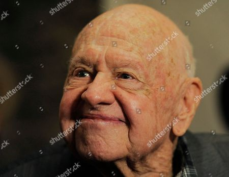 """Mickey Rooney, a cast member in the 1963 film """"It's a Mad, Mad, Mad, Mad World,"""" is pictured at The Last 70mm Film Festival Presented by the Academy of Motion Picture Arts and Sciences, at the Samuel Goldwyn Theater in Beverly Hills, Calif"""