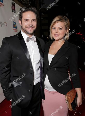 Brandon Barash and Kirsten Storms attend the National Breast Cancer Coalition Fund's 13th Annual Les Girls on in Hollywood, Calif