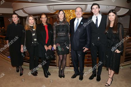 Prince Albert II of Monaco, Princess Caroline of Hanover, Princess Stephanie of Monaco and her daughter Camille Marie Kelly Gottlieb, Cecilia Peck