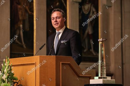 Ralph Hamers, CEO & Chairman Executive Board of ING Group address during the ceremony where he was award ed 'European Banker of the Year 2016' at Imperial Hall of the Frankfurt Roemer in Frankfurt Main, Germany, 13 November 2017. Ralph Hamers, CEO & Chairman Executive Board, ING Group, has worked for the company since 1991, and has headed the financial enterprise since 2013. As part of reasons for awarding the title, the awarding jury said ?under Hamers? leadership, ING has invested heavily in online banking and is considerably ahead of the curve when it comes to banking digitisation. The jury also said the bank impresses with its visionary applications and always stays up to date with the latest technological trends. In contrast to the general trend in the industry, ING?s German subsidiary once again achieved a record result for the 2016 financial year. Earnings after tax rose by 14 per cent to 859 million Euros.