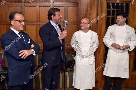 Salvatore Calabrese, Sir Rocco Forte, Heinz Beck and Heros De Agostinis