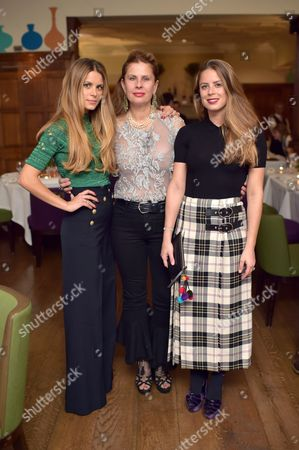 Stock Picture of Irene Forte, Lady Aliai Forte and Lydia Forte