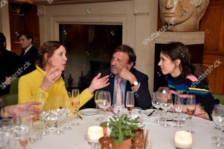 Valeria Napoleone, Sir Rocco Forte and Lara Bohinc