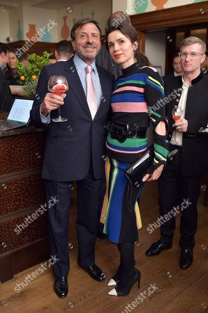 Sir Rocco Forte and Lara Bohinc