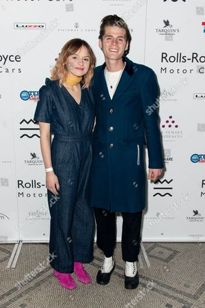 Gabrielle Aplin - arrivals at the opening of 'The Adoration Trilogy - Searching For Apollo', a mixed media artwork installation hosted by Roger Daltrey and Alistair Morrison of 'Legendary Musicians' photograph for Teen Cancer America & Teenage Cancer Trust