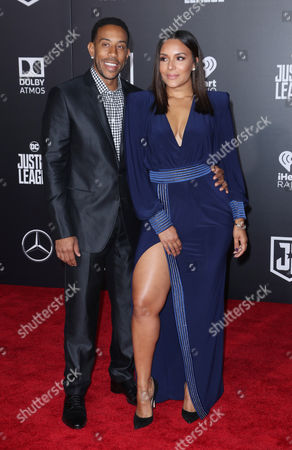 Stock Photo of Chris Ludacris Bridges and Eudoxie Mbouguiengue