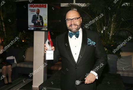 Stock Photo of Honoree Rodrigo Flores-Roux attends the inaugural 'HOMBRE 2017 Men of the Year Awards' presented by Hennessy V.S.O.P. Privilège in New York City on . The awards celebrate Latino men making significant contributions in the United States as masters at their craft