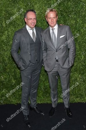 Andrew Saffir, Daniel Benedict. Founder of The Cinema Society Andrew Saffir, left, and Daniel Benedict attend the Museum of Modern Art's 10th annual Film Benefit, presented by Chanel,, in New York