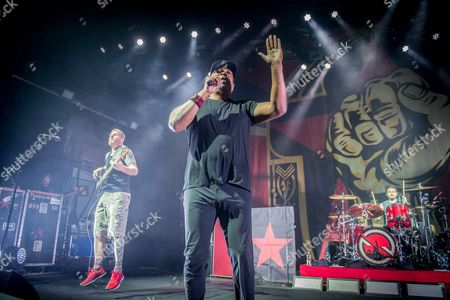 Prophets Of Rage - Tim Commerford (of Rage Against The Machine), Chuck D (of Public Enemy), Brad Wilk (of Rage Against The Machine)
