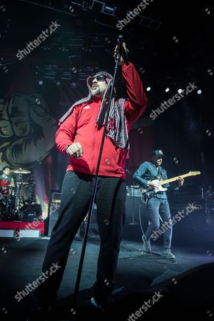 Prophets Of Rage - Brad Wilk of Rage Against The Machine), B-Real (of Cypress Hill), Tom Morello (of Rage Against The Machine)