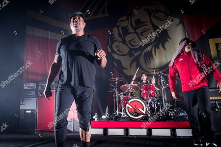 Prophets Of Rage -Cuck D (of Public Enemy), Brad Wilk (of Rage Against The Machine) and B-Real (of Cypress Hill)