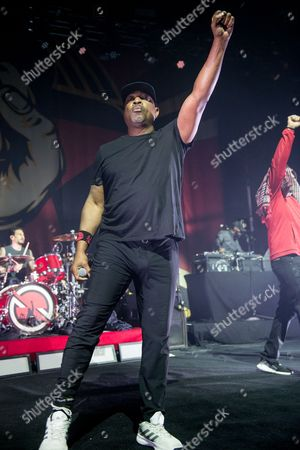 Prophets Of Rage - Brad Wilk (of Rage Against The Machine), Chuck D (of Public Enemy) B-Real (of Cypress Hill)