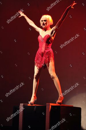 Ivy Winters performing at Center Stage Theatre, in Atlanta. Hosted by Michelle Visage, featured drag queens on the tour are Jinkx Monsoon, Sharon Needles, Ivy Winters, Carmen Carrera, Pandora Boxx, Phi Phi O'hara and DJ Mimi Imfurst