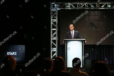 STARZ Managing Director Carmi Zlotnik speaks during 2016 Summer TCA Tour at the Beverly Hilton in Beverly Hills, Calif. on
