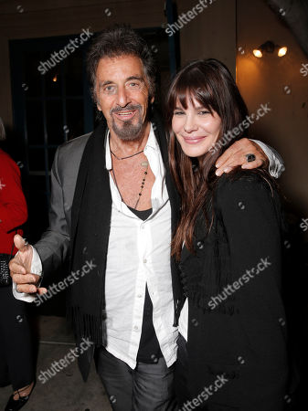 "IMAGE DISTRIBUTED FOR MILLENNIUM ENTERTAINMENT - Al Pacino and Lucila Sola attend a Special Screening of Millennium Entertainment's ""The Humbling"" at Raleigh Studios on Saturday, December 7th, 2014 in Los Angeles"
