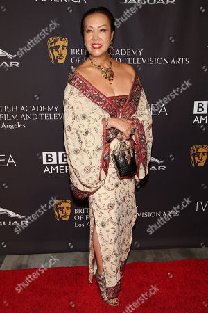 Designer Sue Wong arrives during the BAFTA Los Angeles TV Tea at the SLS Hotel at Beverly Hills on in Los Angeles, Calif