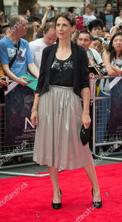Hannah Stokely arrives for the European Premiere of Now, at the Empire cinema in central London, . The film follows twenty British and American actors during a ten month international theatre tour of Richard IIIâ