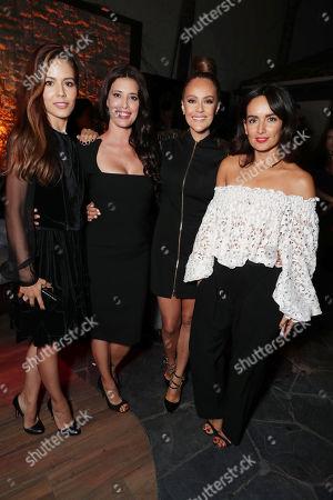 """Martina Garcia, Angie Cepeda, Cristina Umana and Ana De La Reguera seen at Netflix original series Premiere of """"Narcos"""", in Los Angeles, CA"""