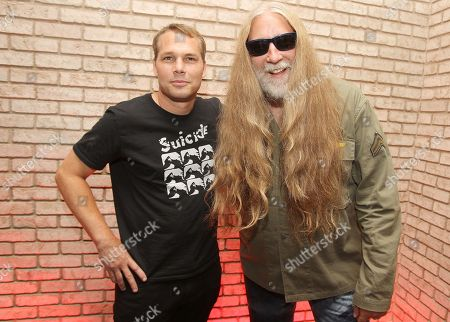 Stock Photo of Artist Shepard Fairey and Tommie Sunshine attend the Shepard Fairey: On Our Hands exhibition opening presented by Hennessy V.S. at the Dream Downtown, in New York