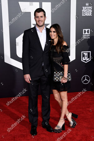 "Drew Pomeranz, Carolyn Esserman. Boston Red Sox pitcher Drew Pomeranz poses with his wife Carolyn Esserman at the premiere of the film ""Justice League"" at the Dolby Theatre, in Los Angeles"