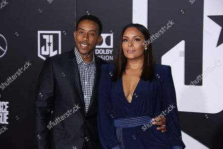 Stock Picture of Ludacris and Eudoxie Mbouguiengue