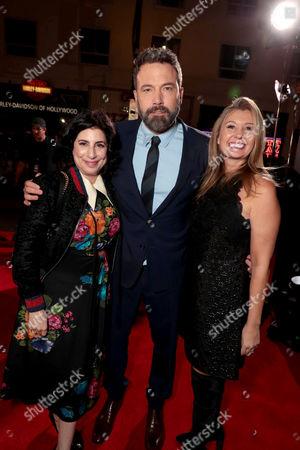 Sue Kroll, President of Worldwide Marketing and Distribution, Warner Bros. Pictures, Ben Affleck, Deborah Snyder, Producer,