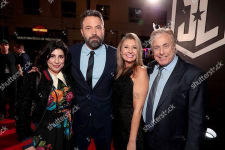 Sue Kroll, President of Worldwide Marketing and Distribution, Warner Bros. Pictures, Ben Affleck, Deborah Snyder, Producer, Charles Roven, Producer,