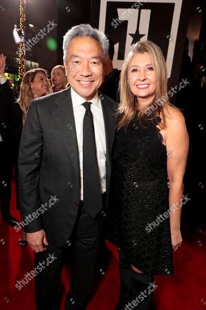 Kevin Tsujihara, Chairman and Chief Executive Officer, Warner Bros., Deborah Snyder, Producer,