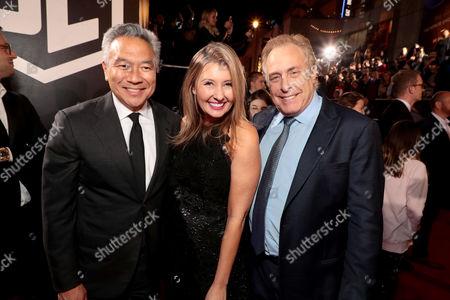 Kevin Tsujihara, Chairman and Chief Executive Officer, Warner Bros., Deborah Snyder, Producer, Charles Roven, Producer,