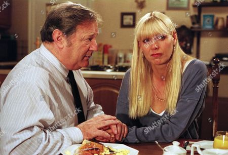 Ep 2275 Wednesday 29th October 1997  Alan is having second thoughts about selling The Woolpack, leaving Emmerdale and joining his motorbike loving girlfriend Jo on a dream trip to America. She is heartbroken and wonders if Alan has been stringing her along. He's desperate to make her realise he really does love her and doesn't want to lose her, but tells her to follow her dream but to remember he'll be waiting for her when she returns - With Alan Turner, as played by Richard Thorp ; Jo Steadman, as played by Julie Peasgood.