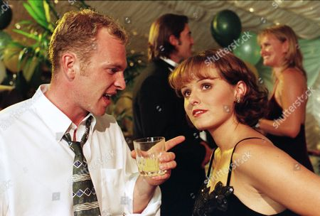 Ep 2270 Thursday 16th October 1997 At Kim's engagement party, Kim realises why her titled business partner never has any money - he's hooked on cocaine. When Lord Alex makes overtures to her, she tells him to go and bother Linda instead. With a surly Biff feeling out of place and not enjoying the party, Linda, knocking back the bubbly, agrees to dance with Lord Alex, annoying Biff further - With Biff Fowler, as played by Stuart Wade ; Linda Fowler, as played by Tonicha Jeronimo.