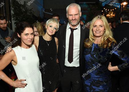 Stock Photo of Amanda Lipitz, Andrea Riseborough, Martin McDonagh and Elisabeth Shue