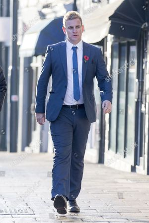 Corpus Christi Catholic school teacher Andrew Kellett arrives at Wakefield Coroners Court this morning for the second day of the inquest into the death of Leeds teacher Ann Maguire at Wakefield Coroners Court.