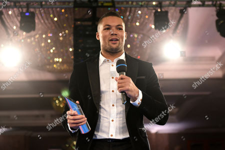 Stock Image of Joe Joyce with a Special Achievement Award during a Charity Dinner Boxing Show at the Hilton Hotel on 13th November 2017