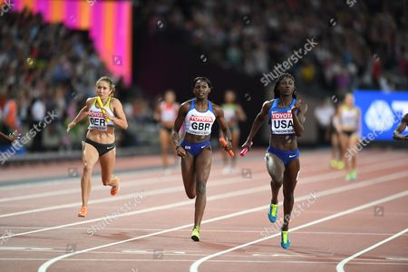 Women's 4x100m - GB and NI Asha Philip, Desiree Henry, Dina Asher Smith and Daryll Neita