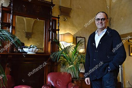 Stock Photo of Iranian producer Ahmad Kiarostami, son of late Iranian filmmaker Abbas Kiarostami who died on July 2016 in Paris, is pictured on the occasion of the Italian preview of '24 Frames', the last masterpiece of his father, in Florence, Italy, 14 November 2017.
