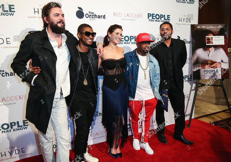 Nick Thune, Usher, Gillian Alexy, Kaily Smith Westbrook and Jermiane Dupri