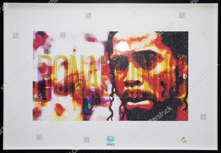 Portrait of Ronaldinho by artist Lincoln Townley