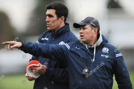 Kelly Brown and Matt Taylor- Scotland assistant coaches.