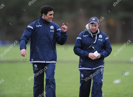 Kelly Brown and Matt Taylor - Scotland assistant coaches.