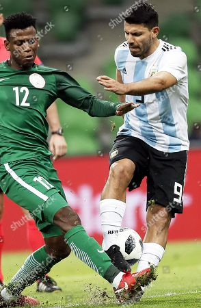 Sergio Aguero and Shehu Abdullahi