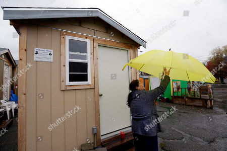 Editorial image of Tiny Houses Big Opposition, Seattle, USA - 09 Nov 2017
