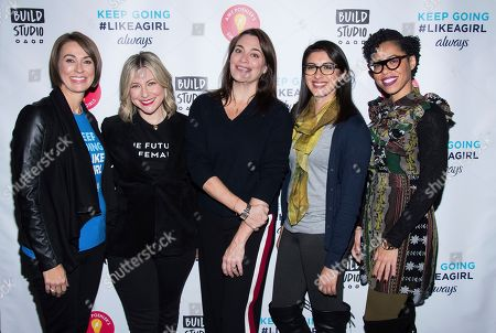 Amanda Hill, Laura Brounstein, Meredith Walker, Christina Diaz, Dr. Knatokie Ford. Amanda Hill, from left, Laura Brounstein, Meredith Walker, Christina Diaz and Dr. Knatokie Ford participate in the BUILD Speaker Series as part of the Fueled by Failure Summit with SmartGirls at AOL Studios, in New York